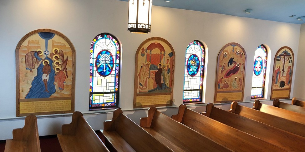 Icons on right side or south wall