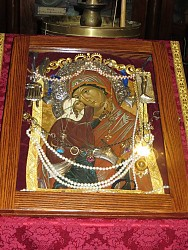 Photograph of the actual Icon at the Dec 11, 2013 Mystery of Holy Unction Service held at St. George Orthodox Church.