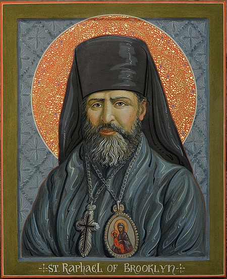Icon of St. Raphael of Brooklyn that Fr. Nikodham commissioned and will present to the Church in Albania in the future